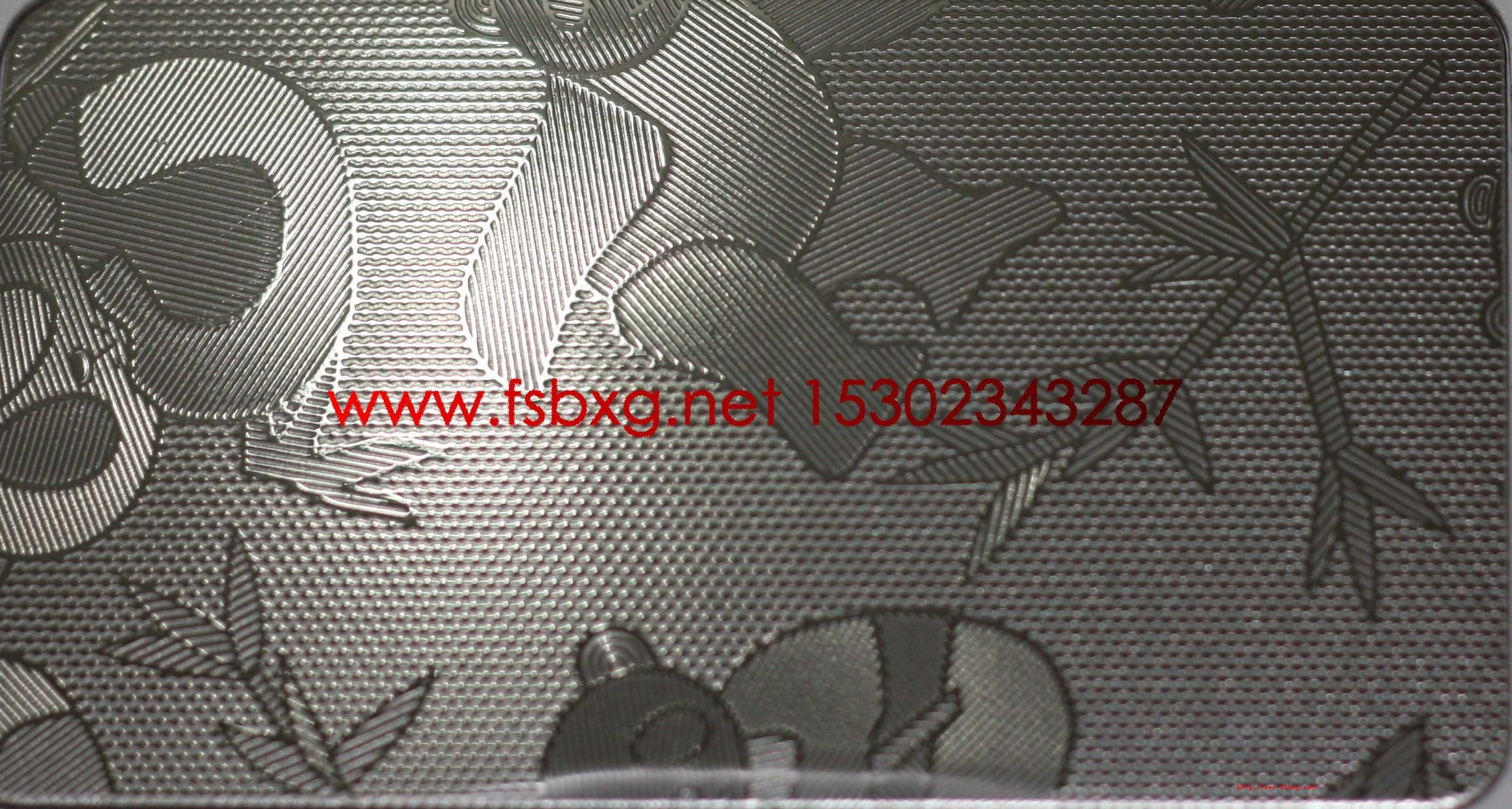 不锈钢工程装饰板专用压花熊猫